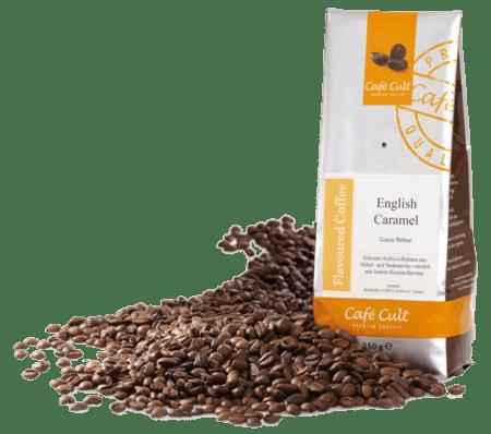 english caramel flavoured coffee