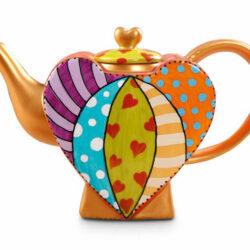 teapot heart ceramic