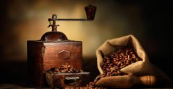 coffee and coffee grinder