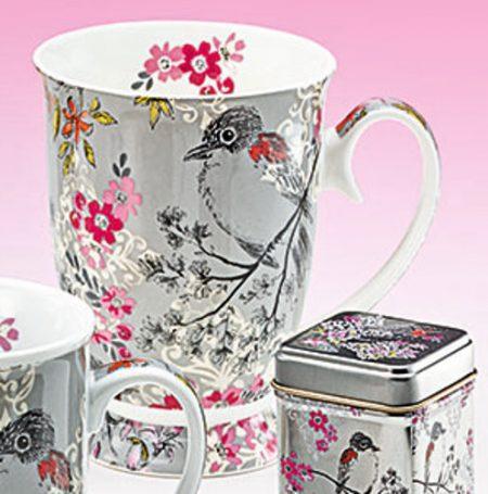 mug with foot chim new bone china