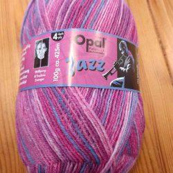 tea and knitting opal yarn