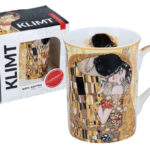 gustav klimt the kiss mug beige