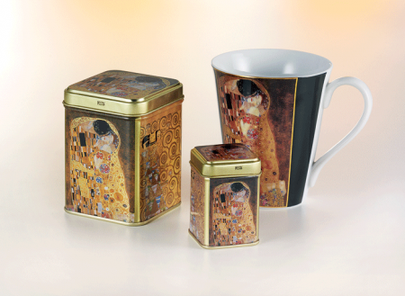 """Tea Caddy Klimt """"Kiss"""""""