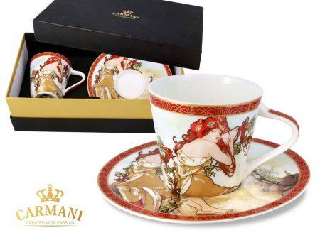 alphonse mucha summer cup and saucer gift set