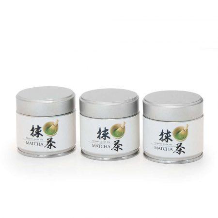 organic matcha shizuoka tins