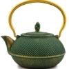 cast iron teapot Tetsu green