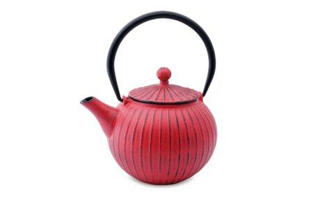 teapot pumpkin red