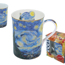 vincent van gogh starry night mug bone china